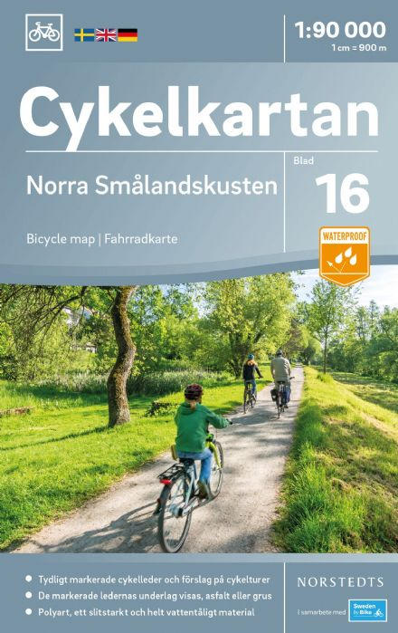 Sweden Cycling Map 16 - Smaland Coast North